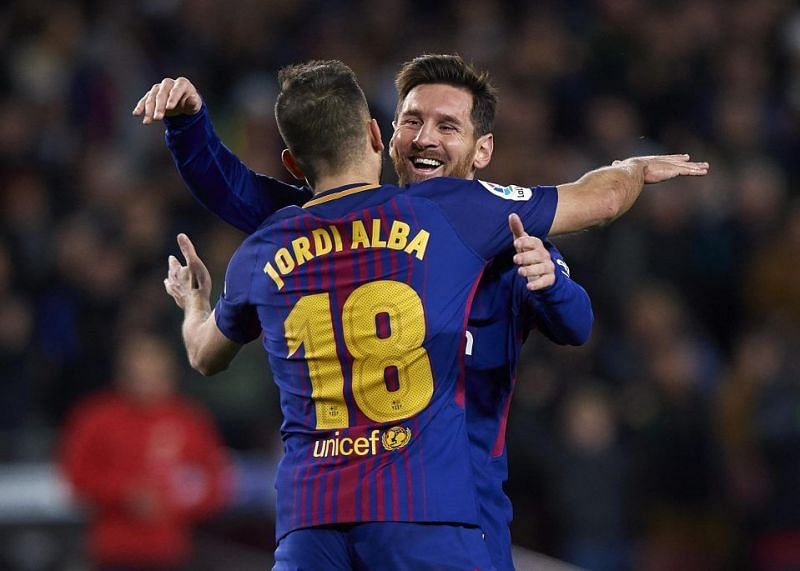 Messi always finds Alba on the left flank