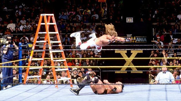 Michaels and Ramon battled in the first Ladder match in WrestleMania history.