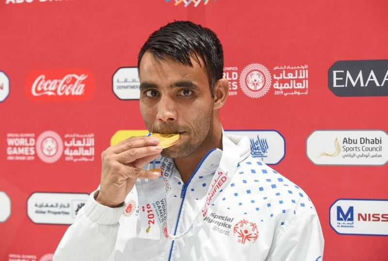 Sonu Kumar with his gold medal