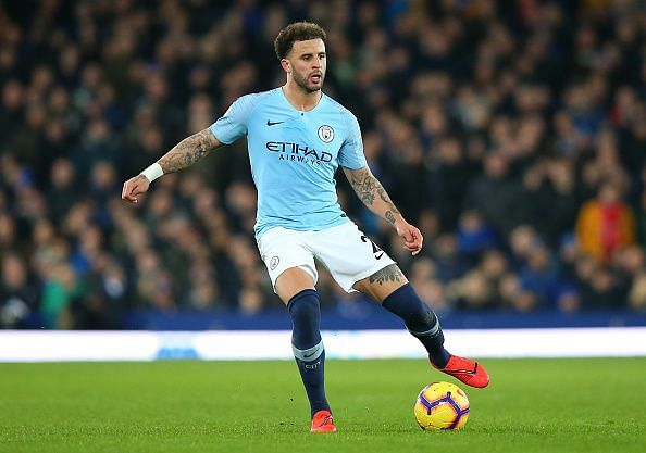 Kyle Walker is often seen filling in the role of an inverted fullback