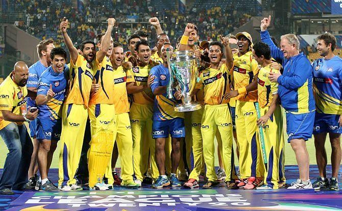 Chennai Super Kings Team Won The Ipl Tropy In 2010