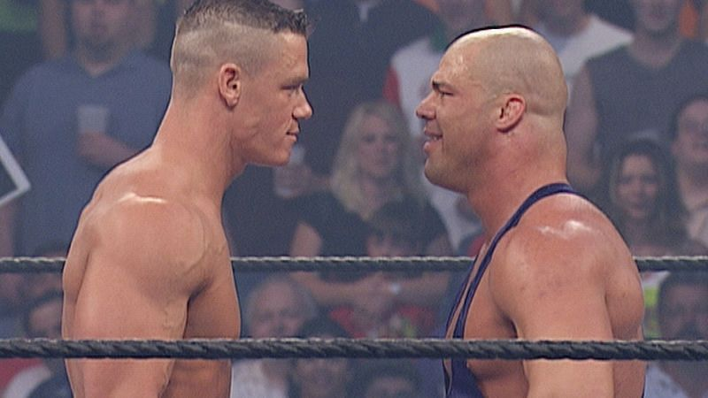 Cena kick-started his WWE career against Kurt Angle!