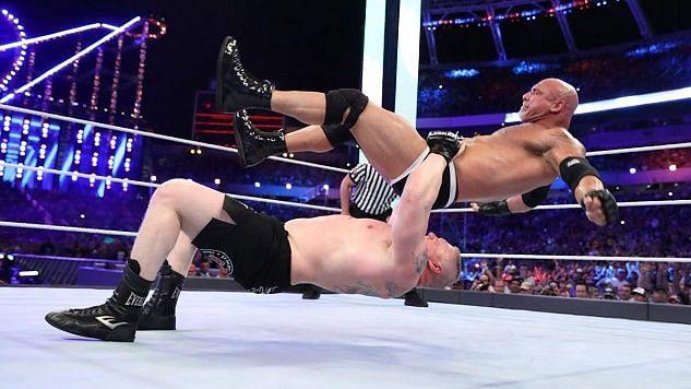 goldberg last wwe match at wrestlemania 33