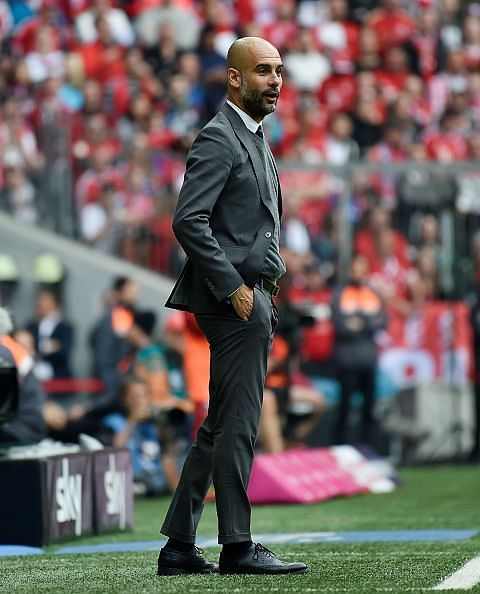 Pep during his time in Germany -FC Bayern Muenchen v Hannover 96 - Bundesliga
