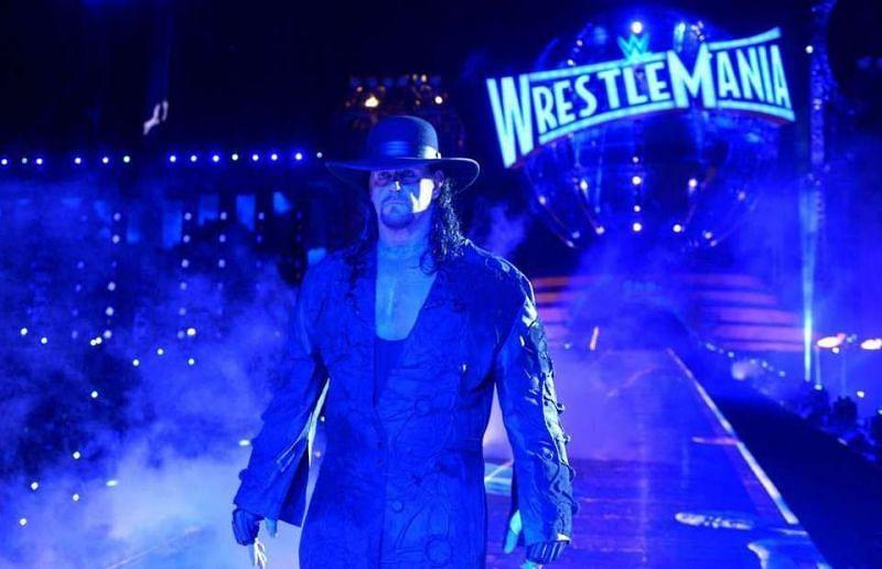 undertaker wrestlemania entrance