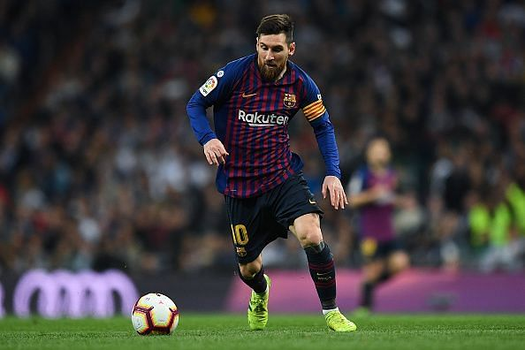 Lionel Messi is influential as ever for Barcelona