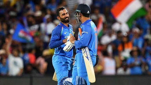 Dinesh Karthik and MS Dhoni are two of India