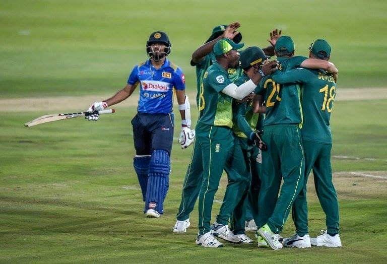 Srilanka Loss by a Big Margin against SA in the Second ODI
