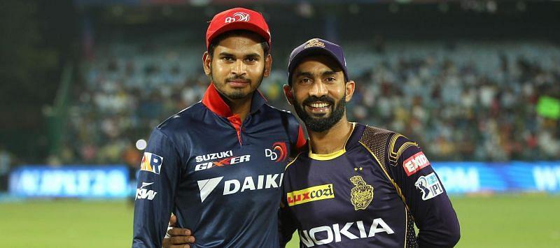 दिल्ली कैपिटल्स और कोलकाता नाइटराइडर्स के कप्तान
