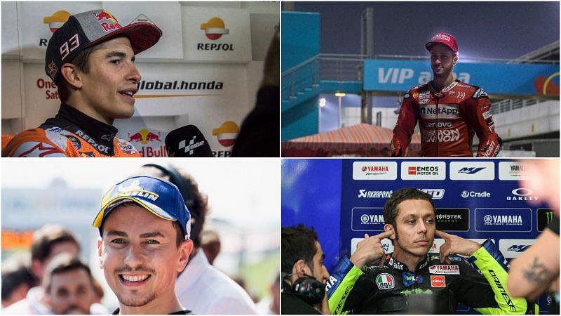 MotoGP rivals Marc Marquez, Andrea Dovizioso, Jorge Lorenzo and Valentino Rossi