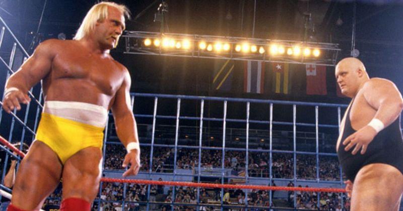 Hulk Hogan vs. King Kong Bundy, WrestleMania II.