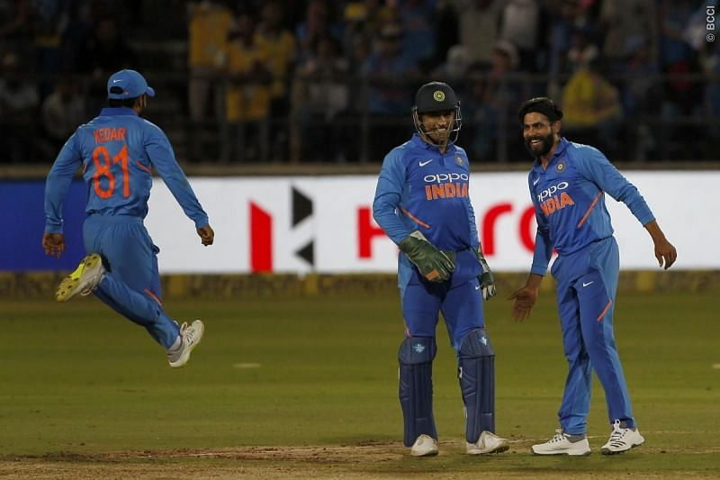 India won the thrilling victory by 8 runs against Australia