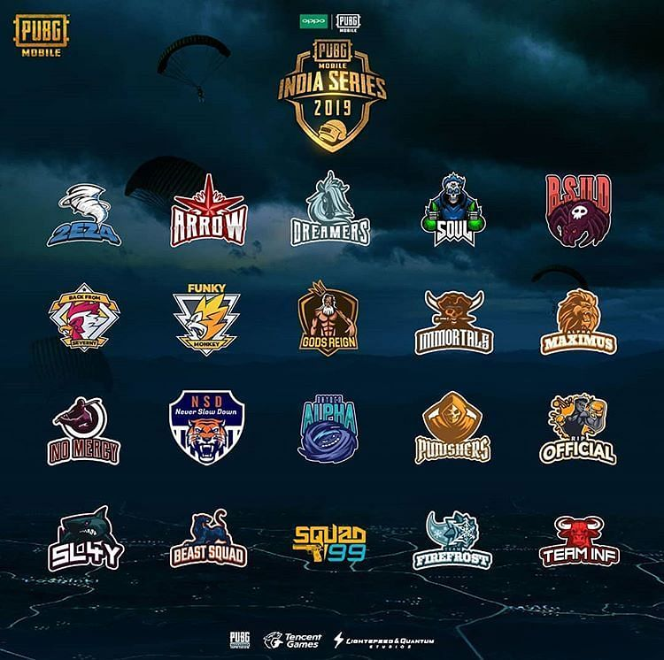 THE FINALISTS OF PUBG MOBILE INDIA SERIES 2019
