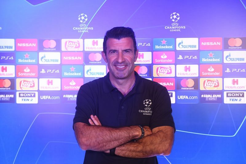 Luis Figo at the UEFA Champions League Global Fan event in Mumbai on Friday. UEFA Media
