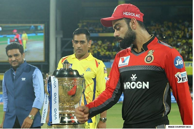 Two captains with IPL trophy