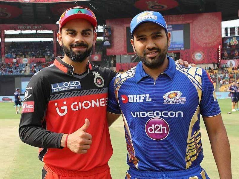 आरसीबी और मुंबई इंडियंस के कप्तान