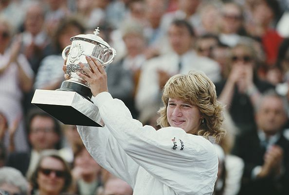 Steffi Graf - won a total of 6 French Open Tennis Championships despite clay being her least preferred surface