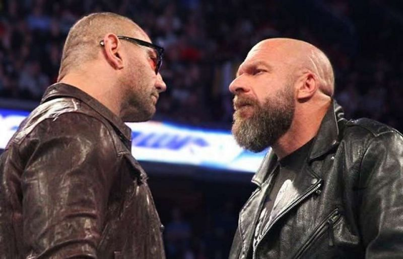 Triple H and Batista are set to face each other at WrestleMania 35