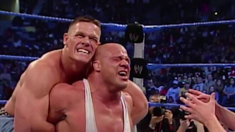 kurt angle might face john cena in wrestlemania 35