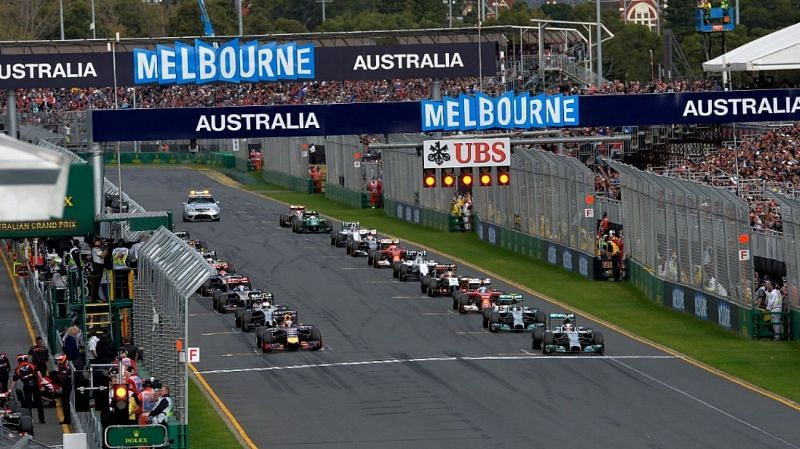 Waiting for the lights off at Albert Park, Melbourne. Source: formula1.com
