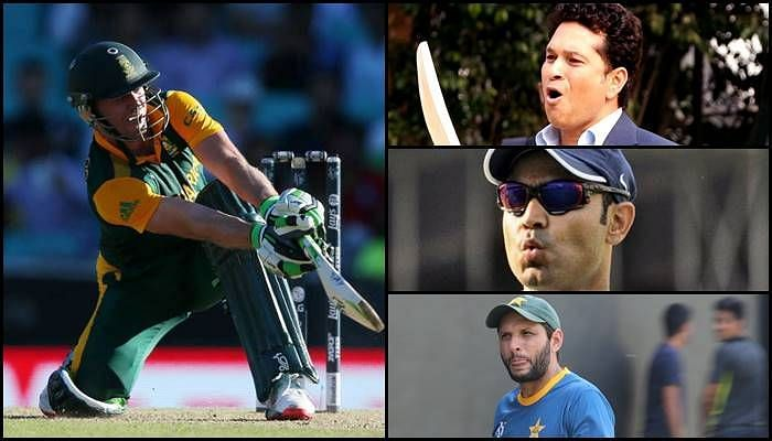 Ab De Villiers And Shahid Afridi And Sachin And Sehwag