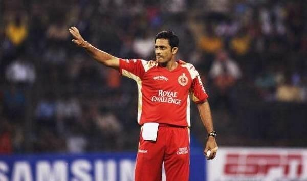 Anil Kumble against Rajasthan Royals in 2009