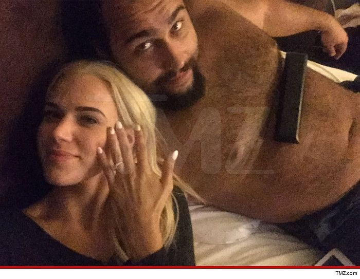 Lana posted about her engagement to Rusev on social media, even though she was in a kayfabe relationship with Dolph Ziggler.