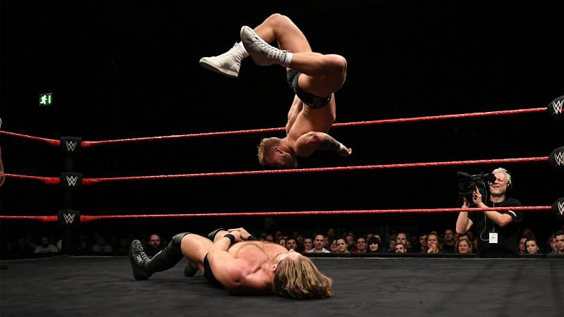Tyler Bate defeated James Drake the last time that these two superstars faced off with each other.