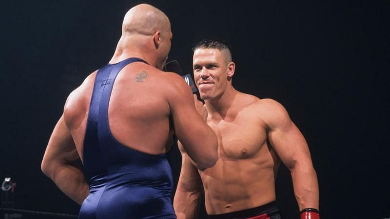 Cena made his debut against Kurt Angle!