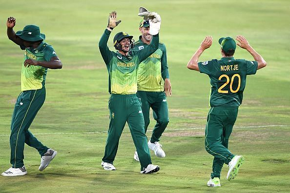 South Africa won the match by 71 runs