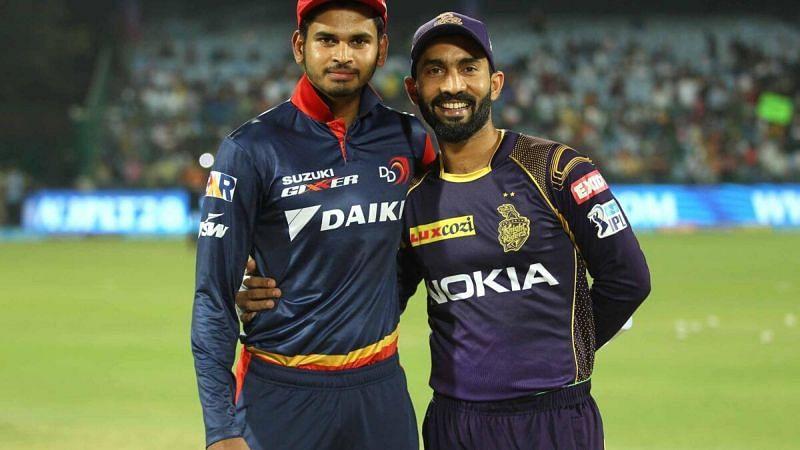 Shreyas Iyer with Dinesh Karthik