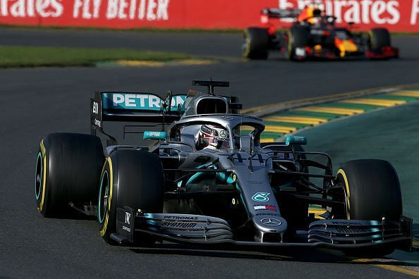 Lewis Hamilton was seen struggling for grip and pace after the first round of pits