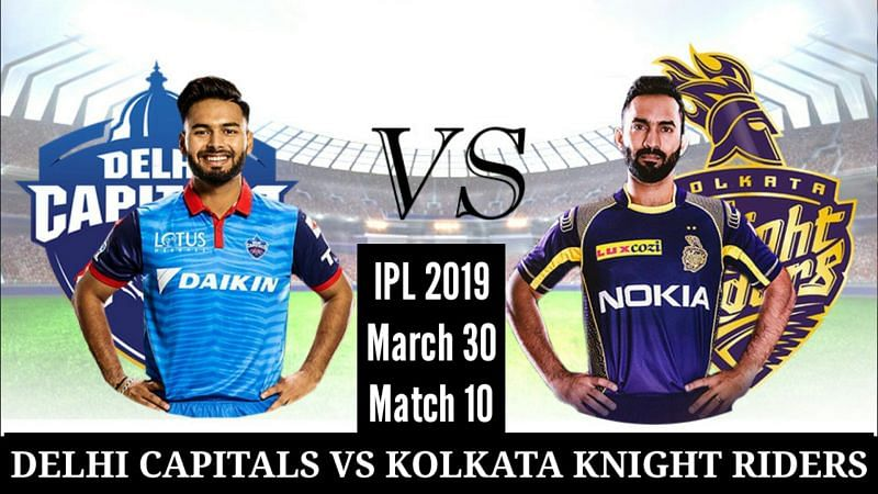 Delhi Capitals will welcome Kolkata Knight Riders for the tenth fixture of IPL 2019.