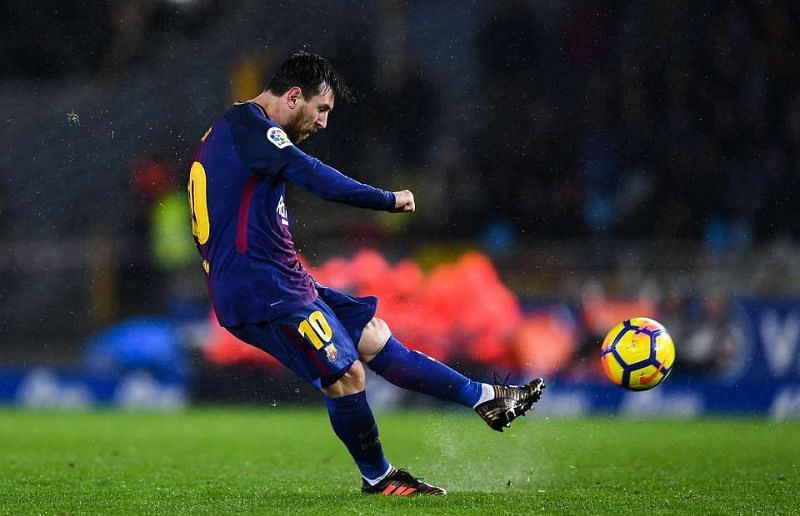 Lionel Messi scored a brilliant free kick against Real Betis