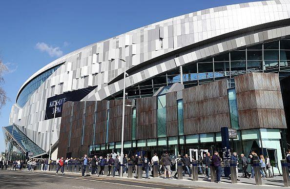 The exterior of Tottenham Hotspur