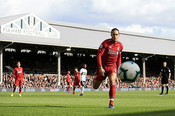 Virgil van Dijk has been a key player for the Reds this season