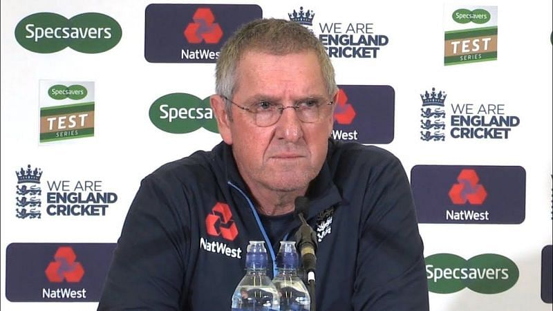 England Head coach Trevor Bayliss at press conference