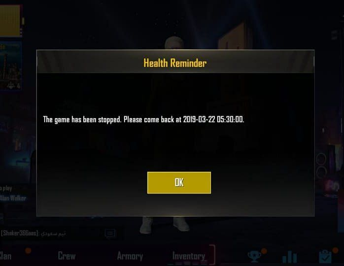 The health reminder seems to be rolling out to Indian users