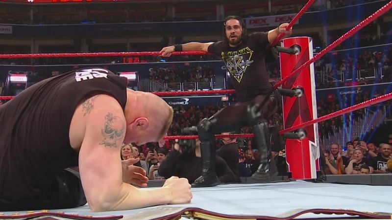 The Beast Incarnate was left helpless in the ring by Seth Rollins and it was a shocker