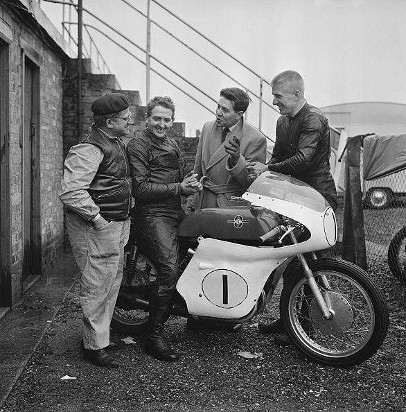 Geoff Duke And Gilera Racing Team