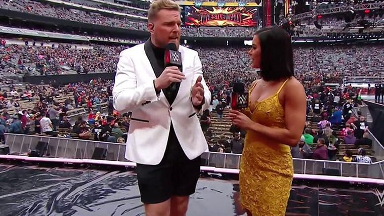 Pat McAfee and Charly Caruso