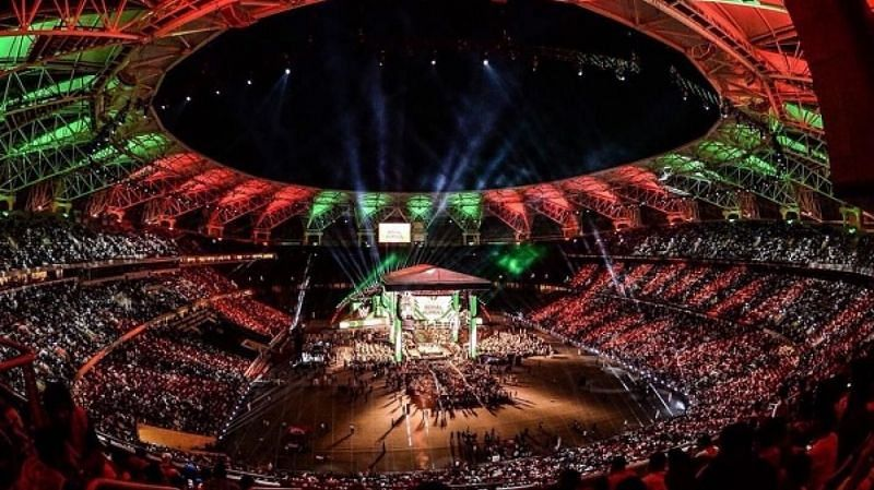 Image result for wwe crown jewel stage
