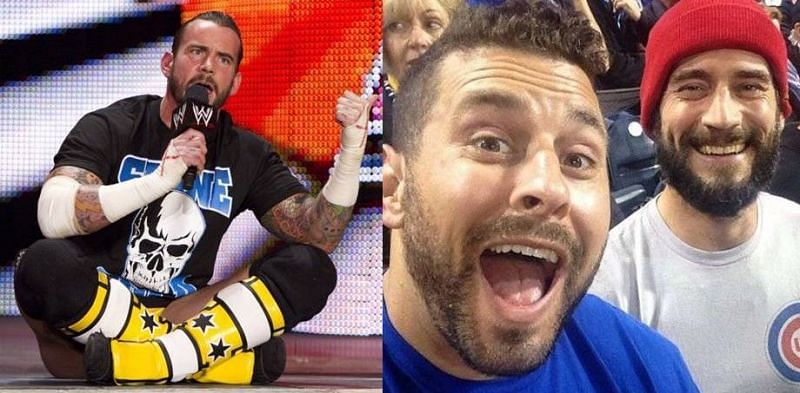 Ex WWE Champion CM Punk (left and right) has been involved in a legal dispute against his former best friend Colt Cabana (center)