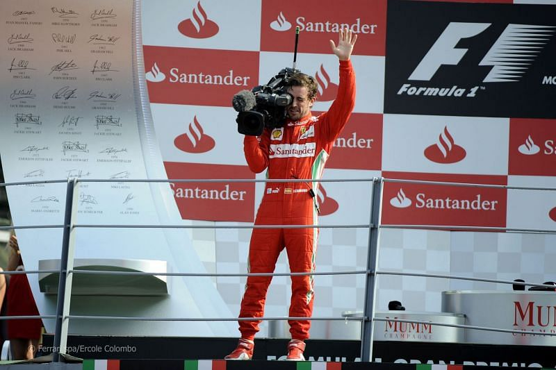 The much loved Alonso with his famous Tifosi cam in Monza