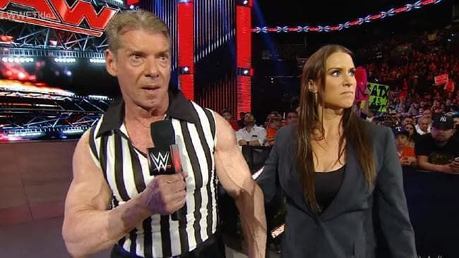 Vince McMahon with Stephanie