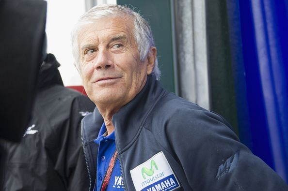 Giacomo Agostini of Italy - the man with the most MotoGP titles at 8 stood on the podium 78 times