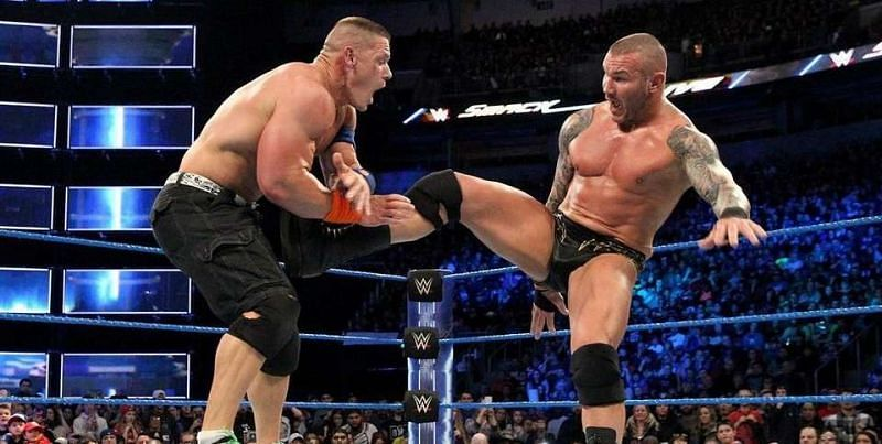 WWE Superstars John Cena (left) and Randy Orton (right) are good friends in real life