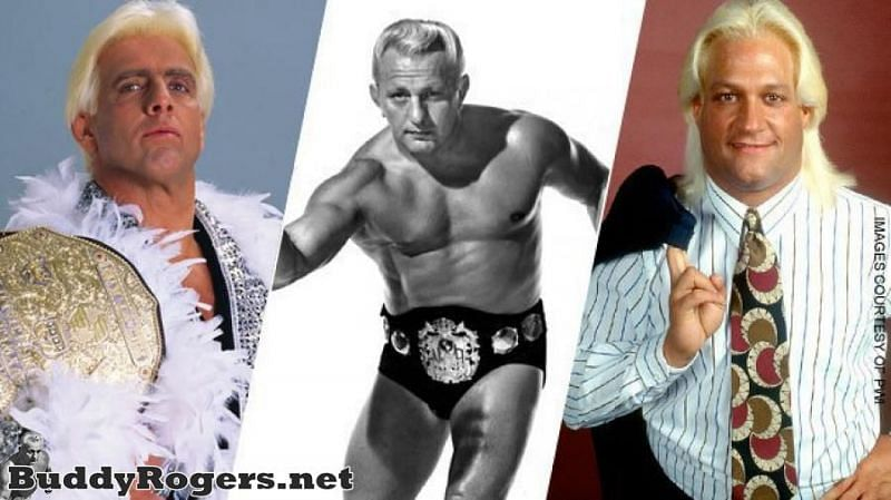 The Three Nature Boys: Ric Flair, Buddy Rogers (the first man to use the gimmick) and Buddy Landel