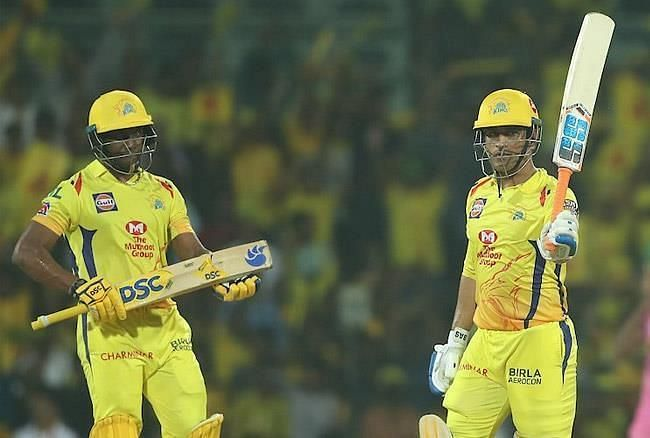 MS Dhoni was adjudged the Man-of-the-match against RR