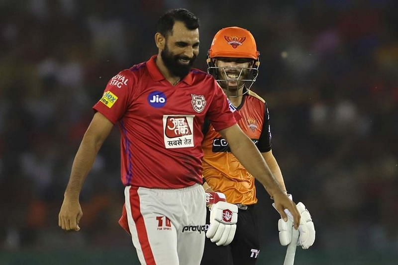 Warner and Shami will come face-to-face again tonight (Picture courtesy: iplt20.com)